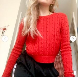 Red brandy knit swether
